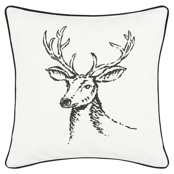 Winter Morning Stag 100% Cotton Throw Pillow by Eddie Bauer